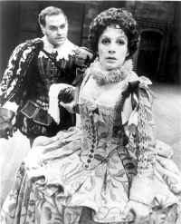 Charles Cioffi (Benedick) and Patricia Elliott (Beatrice) in Peter Gill's production of Much Ado About Nothing at the 1969 American Shakespeare Festival, Stratford, Conn.
